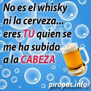 No es el whisky ni la cerveza