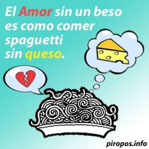 El Amor sin un beso es como comer